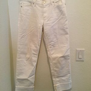 White banana republic cropped jeans size: 28